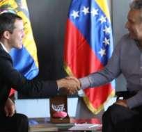 Lenín Moreno dio la bienvenida a Juan Guaidó y le reiteró el respaldo de su Gobierno.