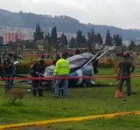 QUITO, Ecuador.- El ECU911 confirmo que pese a las lesiones, los ocupantes de la aeronave están estables. Foto: API