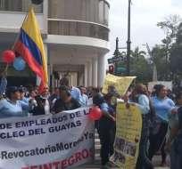 Trabajadores públicos de Salud denuncian despidos masivos. Foto: Twitter