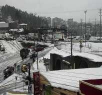 QUITO, Ecuador.- Bloqueos en arterias viales y deslaves se observaron también en el Valle de los Chillos. Foto: ECU 911.