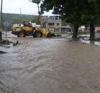 11 cantones de Manabí afectados por inundaciones. Foto: Cortesía