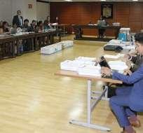 QUITO, Ecuador.- Este viernes, se reinstaló la audiencia preparatoria de juicio por caso Secom. Foto: API