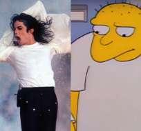 El capítulo donde se escucha la voz del 'Rey del Pop' se emitió por primera vez en 1991. Foto: Collage.