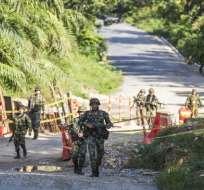 Los militares fueron atacados mientras adelantaban trabajos de construcción. Foto: Archivo/El Colombiano.