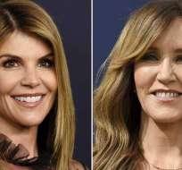 Lori Loughlin y Felicity Huffman están entre las más de 40 personas acusadas de participar en una presunta red de sobornos. AFP