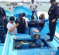 La operación fue realizada por el subcomando de guardacostas y la Policía Antinarcóticos. Foto: Cortesía.
