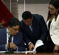QUITO, Ecuador.- Juez informará decisión el 20 de marzo. Fiscalía acusa al exfuncionario de falsificación. Foto: API