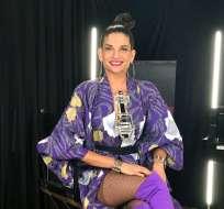 MIAMI, EE.UU.- Natalia Jiménez posa durante una entrevista en las oficinas de Sony Music en Miami. Foto: AP.