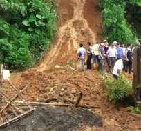 Los escombros cubrían más de 20 metros de la carretera.