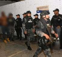 El extranjero fue llevado a la Unidad de Flagrancia en Quito. Foto: Ministerio del Interior.