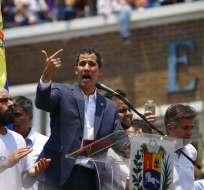 Guaidó en una manifestación en Valencia, Venezuela, el sábado 16 de marzo de 2019. Foto: AP