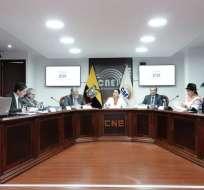 QUITO, Ecuador.- Los consejeros se reunirán nuevamente para definir cómo se registrará el sufragio. Foto: CNE.