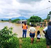 SANTA ROSA, El Oro.- Coop. 27 de Enero del cantón orense Santa Rosa varias viviendas se encuentran anegadas. Foto: Riesgos.