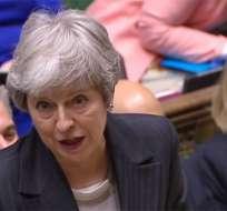 May pidió una corta prórroga del Brexit a la Unión Europea. Foto: AFP