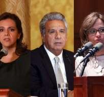 """QUITO, Ecuador.- La ministra Romo sostiene denuncia del correísmo """"distrae a la justicia"""". Foto: Collage."""