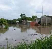 28 recintos afectados por lluvias en Vinces en Los Ríos. Foto: Los Ríos