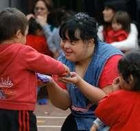 El 21 de marzo se conmemora el Día Mundial del Síndrome de Down. Foto: AFP - Referencial