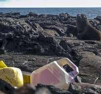 GALÁPAGOS, Ecuador.- Juguetes, zapatillas, encendedores, bolígrafos y cepillos dentales son algunos de los residuos. Foto: AFP