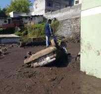 Aluvión en Pinar Alto dejó 25 casas afectadas y 11 familias evacuadas. Foto: API