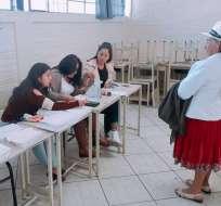 GIRÓN, Ecuador.- Habitantes de tres parroquias de ese cantón del Azuay deciden futuro de Quimsacocha. Foto: Twitter CNE
