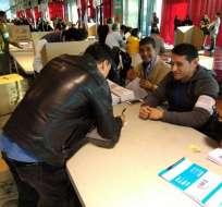 MADRID, España.- Para los migrantes, el voto es facultativo y solo eligen a los integrantes del Cpccs. Foto: @EmbajadaEcuESP