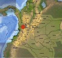 El epicentro del sismo registrado este sábado se situó en Versalles, en el departamento del Valle del Cauca.