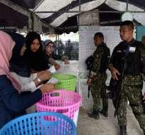 En total 51 millones de tailandeses estaban llamados a las urnas. Foto: AFP