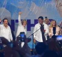Candidata a Alcaldía de Guayaquil dijo que la ciudad escogió el camino de Febres Cordero y Nebot. Foto: API