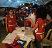 El proceso se efectuó en el Centro de Procesamiento de Resultados (CPR). Foto: CNE.