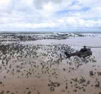 400.000 hectáreas de cosechas resultaron destruidas por las inundaciones. Foto: AFP