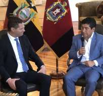 Yunda invitó a los exalcaldes de Quito a conformar un consejo consultivo. Foto: @jcarlosaizprua