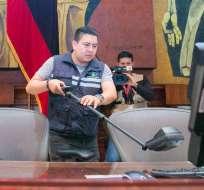 Policía, además, realizó este miércoles un barrido antiexplosivos en el Legislativo. Foto: Asamblea