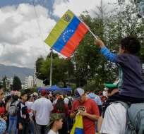 QUITO, Ecuador.- Migrantes venezolanos durante un encuentro realizado en la capital. Foto: Archivo/API.