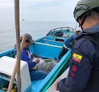 22 uniformados de la Armada del Ecuador participaron en el operativo. Foto
