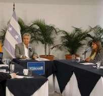 El presidente Moreno dijo que responderá y aclarará lo que sea necesario. Foto: Comunicación