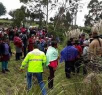 LATACUNGA, Ecuador.- La comunidad de San Antonio de Toacaso quedó alarmada tras este hallazgo. Foto: Facebook