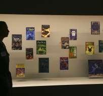 """Exposición """"Harry Potter - A History of Magic"""" en la Biblioteca Británica en Londres. Foto: AP"""