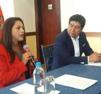 QUITO, Ecuador.- Pabón y Yunda afirmaron que sumarán esfuerzos para el desarrollo de la capital y de Pichincha. Foto: API