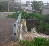 SAN CRISTÓBAL, Ecuador.- El intenso temporal inundó calles del cantón insular. Foto: ECU911