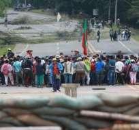 Las comunidades indígenas reclaman la adjudicación de tierras. Foto: Twitter