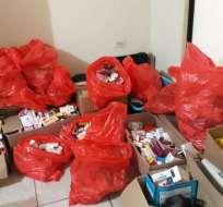Todos los medicamentos ilícitos fueron decomisados por elementos de la UDAT. Foto: ARCSA