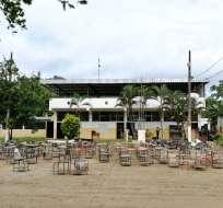 13 escuelas afectadas por el invierno en Manabí. Foto: Ministerio de Educación