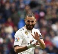El delantero francés hizo los dos goles del triunfo 2-1 en el estadio Santiago Bernabeú. Foto: GABRIEL BOUYS / AFP