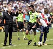 El entrenador de Liga de Quito no quiso comentar sobre el invicto de Liga en Casa Blanca. Foto: Archivo/API
