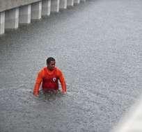 Las lluvias comenzaron la tarde del lunes y continuaron el martes. Foto: AFP