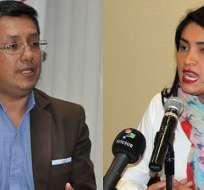 ECUADOR.- Christian Cruz y Victoria Desintonio rechazan intención de eliminar el Consejo de Participación. Collage: Ecuavisa