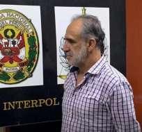 González fue detenido este martes en una calle del distrito de Miraflores, en Lima. Foto: Twitter