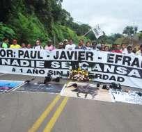 Parientes del equipo periodístico de El Comercio recorrieron Mataje, en Esmeraldas. Foto tomada del Twitter @Sory_Constante
