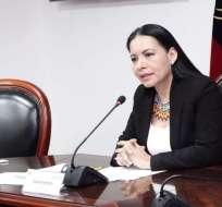 """Diana Atamaint dijo que acudirá a todas las instancias para que """"no quede la mínima duda"""" sobre los resultados. Foto: CNE"""