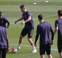 Cristiano Ronaldo en el entrenamiento de la Juve.